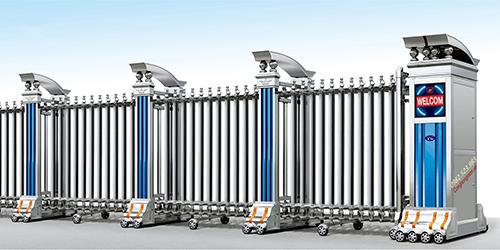 Cửa cổng màu trắng - Vẻ đẹp tuyệt vời của cổng xếp hợp kim nhôm
