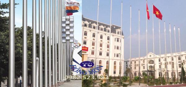 Cột cờ inox 304 - Cột cờ Hồng Môn