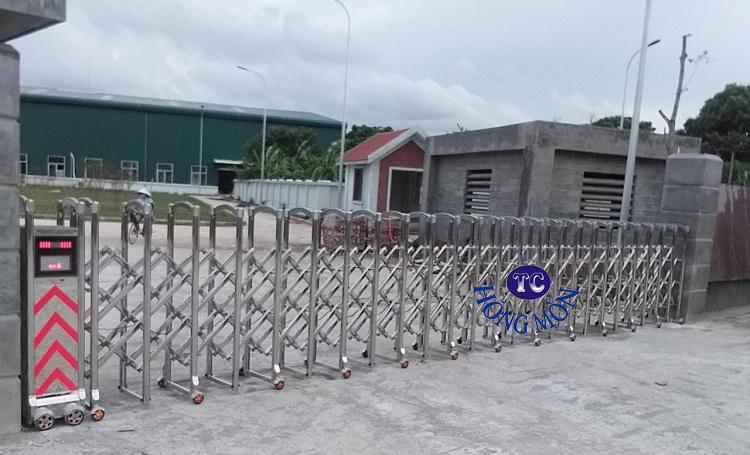 Cổng inox lắp đặt tại Nam Định