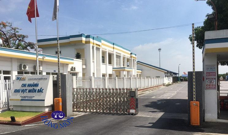 Cổng inox tại Cty nhiên liệu hàng không SKYPEC Nội Bài, Hà Nội
