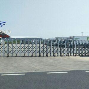Sửa chữa cổng xếp điện inox, cổng xếp hợp kim nhôm, barie tự động