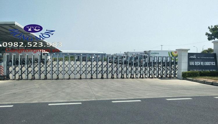 Cổng xếp điện Hồng Môn lắp đặt tại tỉnh Bắc Ninh